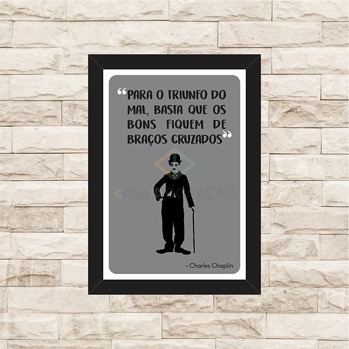 6115 - Quadro com moldura Charles Chaplin