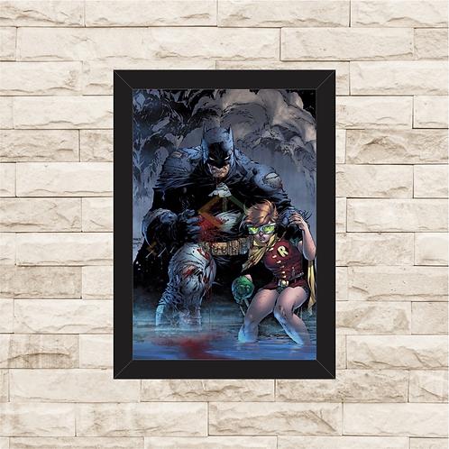 1217 - Quadro com moldura Batman