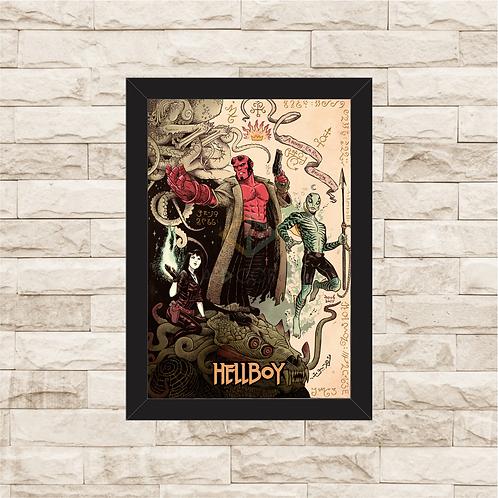 1803 - Quadro com moldura Hellboy