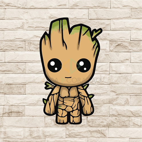 30105 - Placa Decorativa - Baby Groot