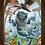 Thumbnail: 1772 - Quadro com moldura Alice no País das Maravilhas - Gato Listrado