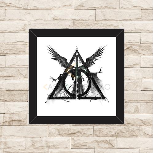 1220 - Quadro com moldura Harry Potter - Relíquias da Morte