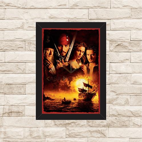 1336 - Quadro com moldura Piratas do Caribe