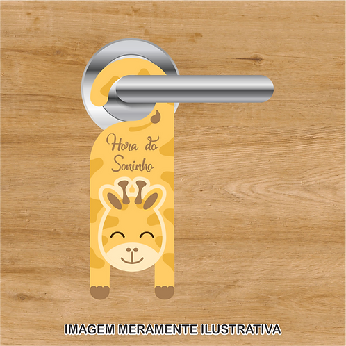 20039 - Aviso de porta Hora do Soninho - Girafinha