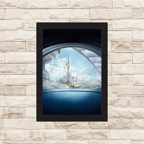 1637 - Quadro com moldura Tomorrowland - Um Lugar Onde Nada é Impossível