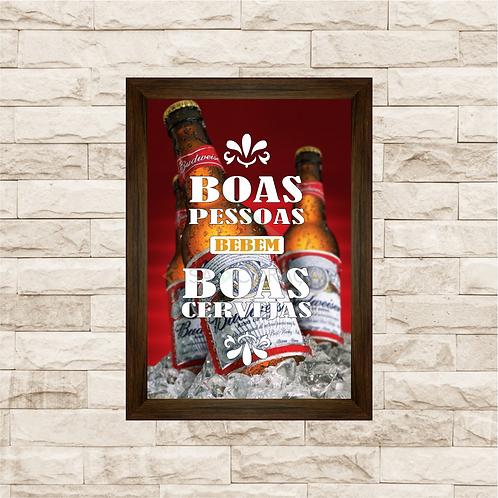 5014 - Quadro Para Guardar Tampinhas - Boas pessoas, Boas Cervejas