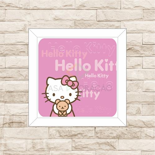 4074 - Quadro com moldura Hello Kitty