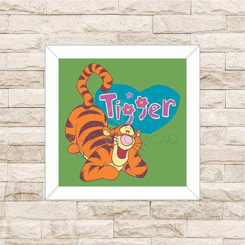 4094 - Quadro com moldura Ursinho Pooh - Tigrão