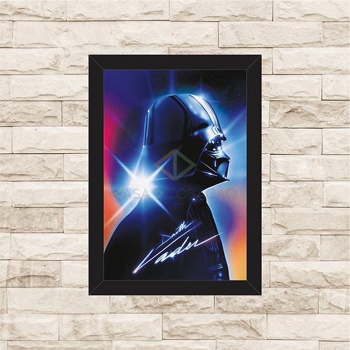 1703 - Quadro com moldura Star Wars - Darth Vader
