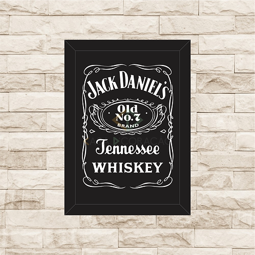 7001 - Quadro com moldura Jack Daniel's