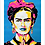 Thumbnail: 6105 - Quadro com moldura Frida Kahlo
