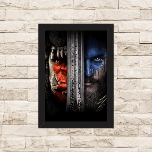 1650 - Quadro com moldura Warcraft - O Primeiro Encontro de Dois Mundos