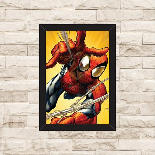 1109 - Quadro com moldura Homem Aranha