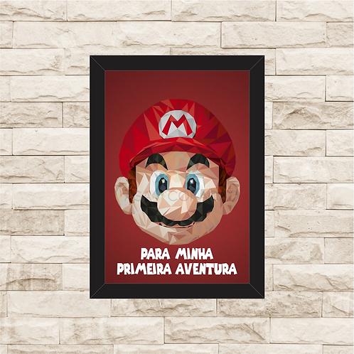 114 - Quadro para guardar dinheiro - Para Minha Primeira Aventura - Super Mario