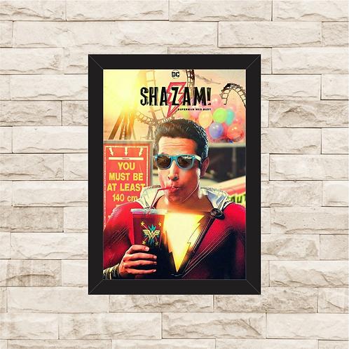 1213 - Quadro com moldura Shazam