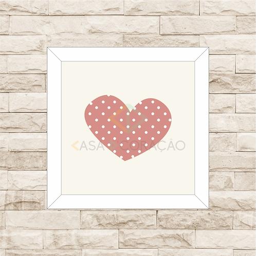 4036 B - Quadro com moldura Coração - Rosa