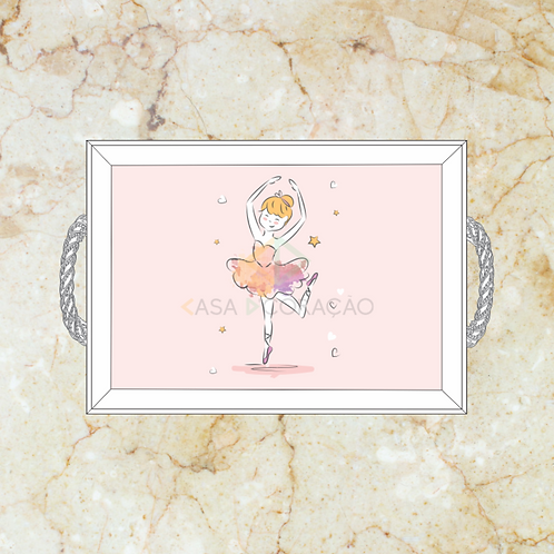 10058 - Bandeja Decorativa - Bailarina