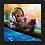 Thumbnail: 1121 - Quadro com moldura Guardões da Galáxia - Baby Groot