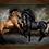 Thumbnail: 6213 - Quadro com moldura Cavalos
