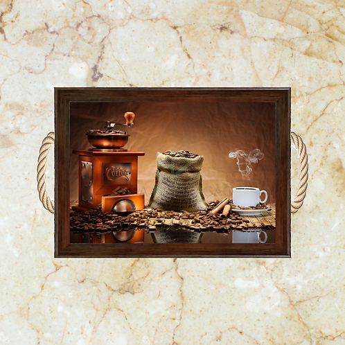 10025 - Bandeja Decorativa - Moedor de Café