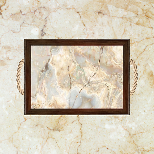 10008 - Bandeja Decorativa - Pedra