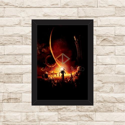 1497 - Quadro com moldura A Batalha de Riddick