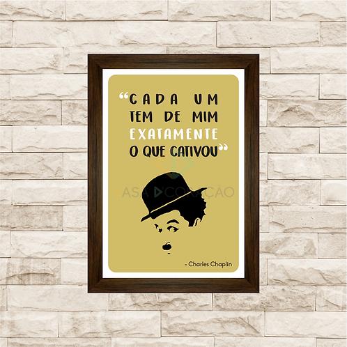 6114 - Quadro com moldura Charles Chaplin