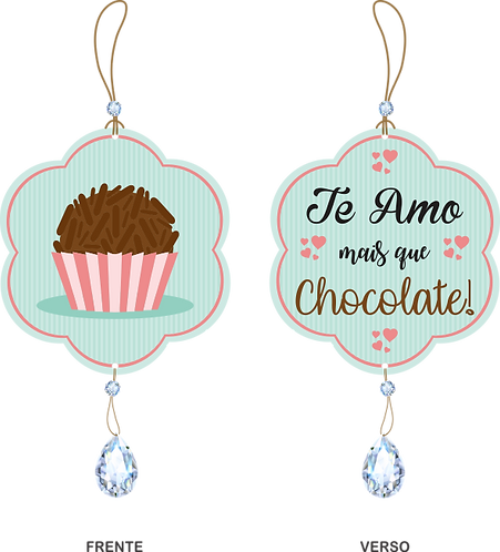 50020 - Móbile Te Amo mais que Chocolate!