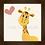 Thumbnail: 4036 A - Quadro com moldura Girafinha - Rosa