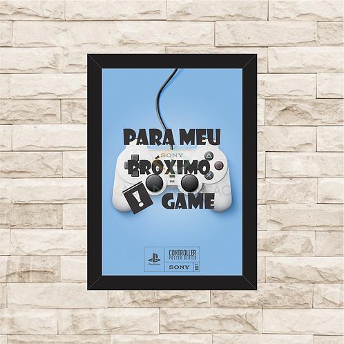 021 - Quadro para guardar dinheiro - Para o Próximo Game - Playstation