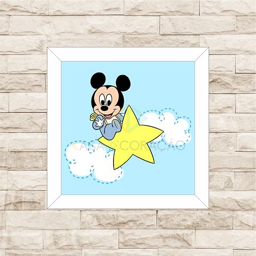 4066 B - Quadro com moldura Mickey