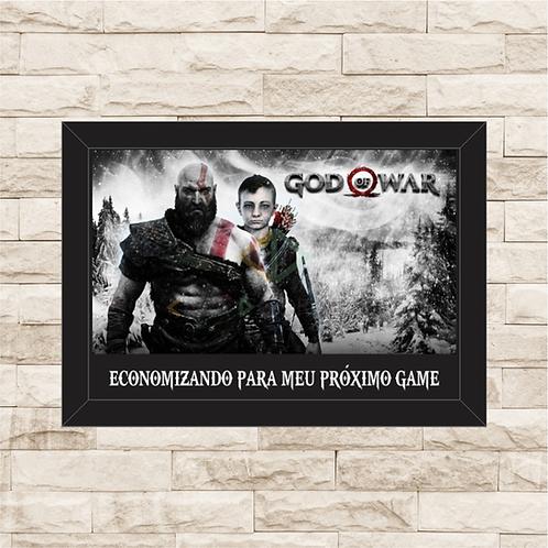 002 - Quadro para guardar dinheiro - Para o Próximo Game - God of War