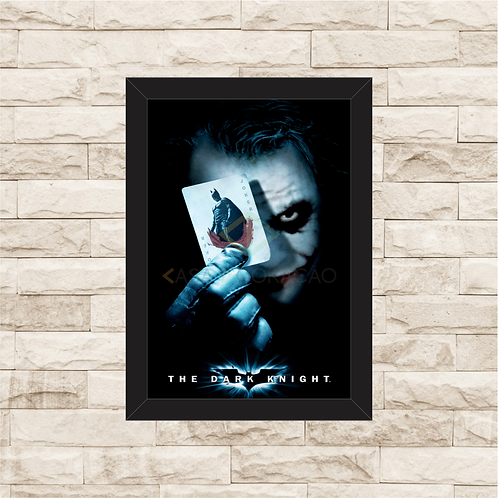 1400 - Quadro com moldura Batman The Dark Knight - Coringa