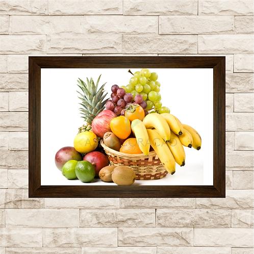 6245 - Quadro com moldura Cesta de Frutas