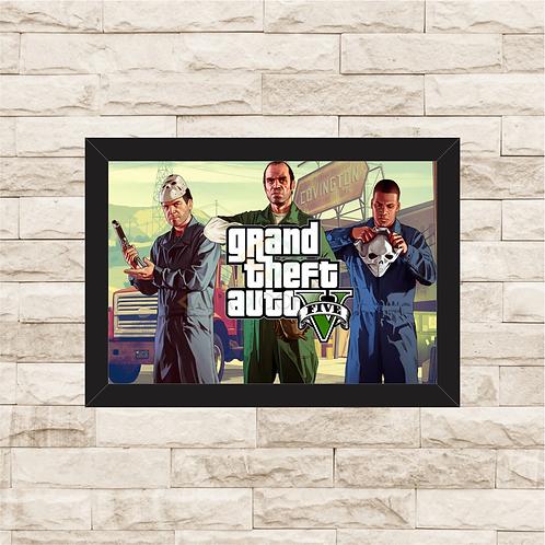 1020 - Quadro com moldura Grand Theft Auto - GTA
