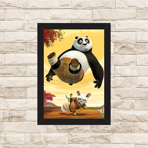 1676 - Quadro com moldura Kung Fu Panda