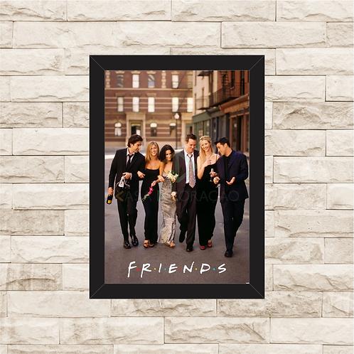 1308 - Quadro com moldura Friends