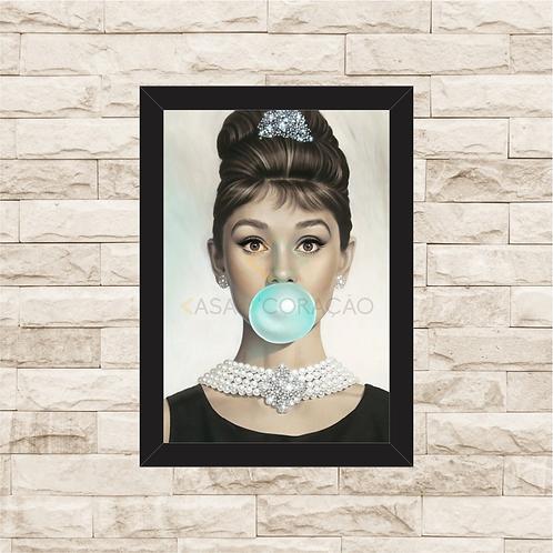 1194 - Quadro com moldura Audrey Hepburn