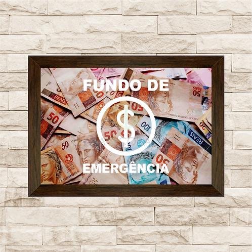 035 - Quadro para guardar dinheiro - Fundo de Emergência