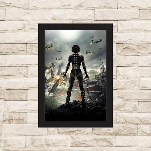 1615 - Quadro com moldura Resident Evil 5 - Retribuição