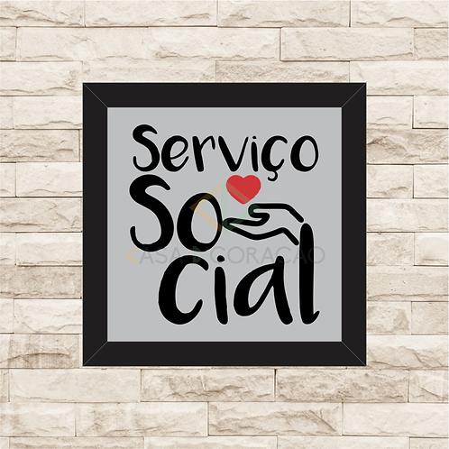 6227 - Quadro com moldura Serviço Social