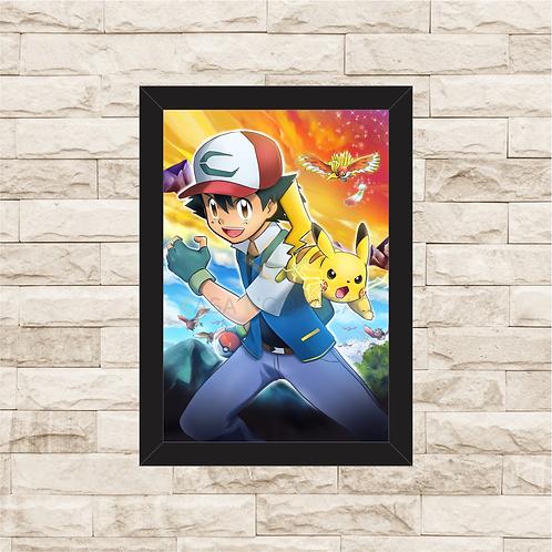 1294 - Quadro com moldura Pikachu