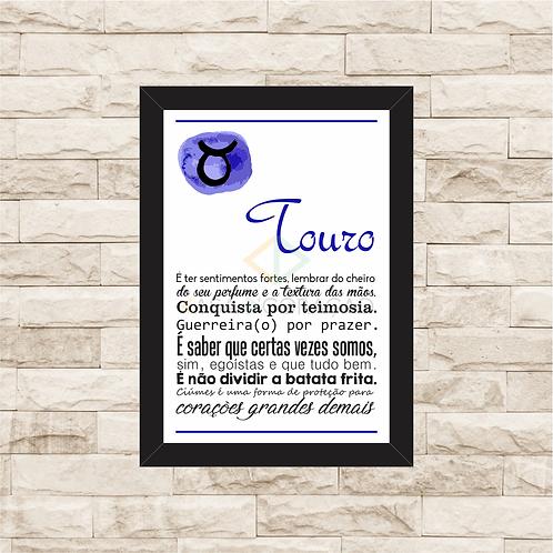 6332 - Quadro com moldura Signo Touro