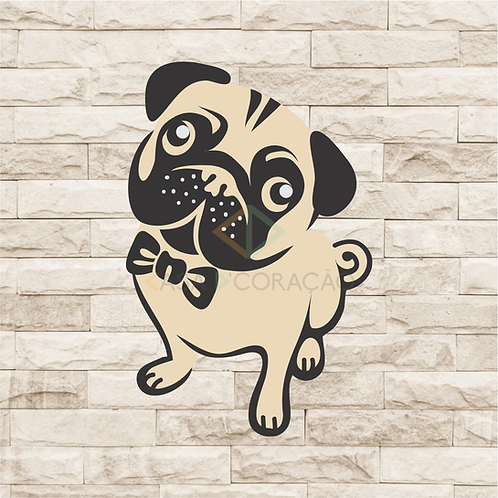 30104 - Placa Decorativa - Pug