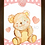 Thumbnail: 4022 - Quadro com moldura Urso - Rosa