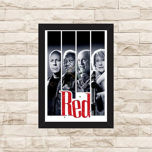 1606 - Quadro com moldura RED - Aposentados e Perigosos