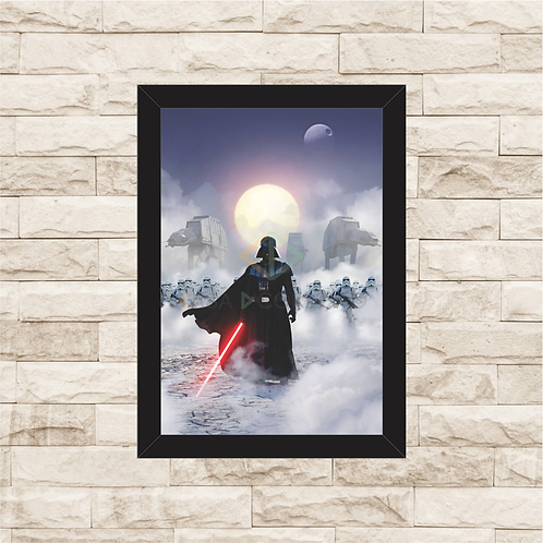 1740 - Quadro com moldura Star Wars - Darth Vader