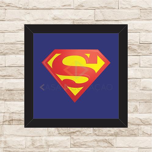 1226 - Quadro com moldura Superman Logo