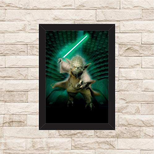 1414 - Quadro com moldura Star Wars - Yoda