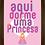 Thumbnail: 4160 - Quadro com moldura Aqui Dorme uma Princesa